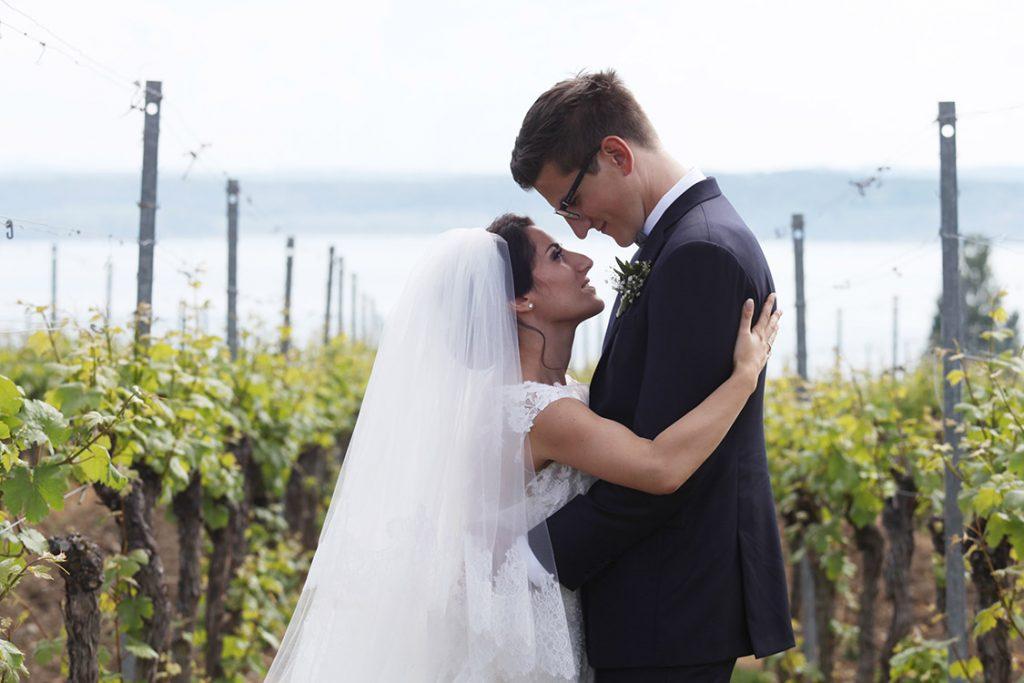 Brautpaar in den Weinbergen, Hochzeitsfilm Bodensee